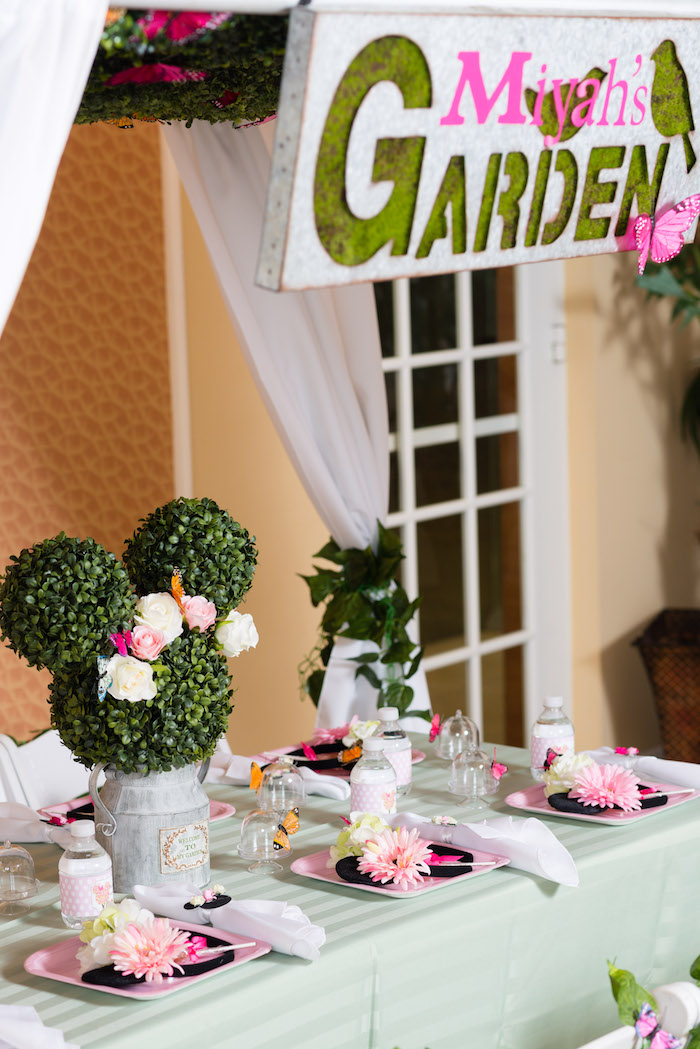 Minnie Mouse Inspired Butterfly Garden Party on Kara's Party Ideas | KarasPartyIdeas.com (23)