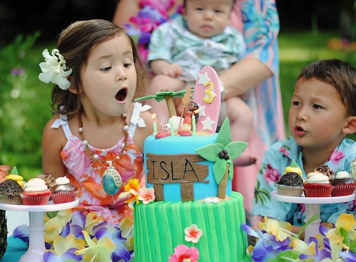 Moana Hawaiian Luau Birthday Party on Kara's Party Ideas | KarasPartyIdeas.com (4)