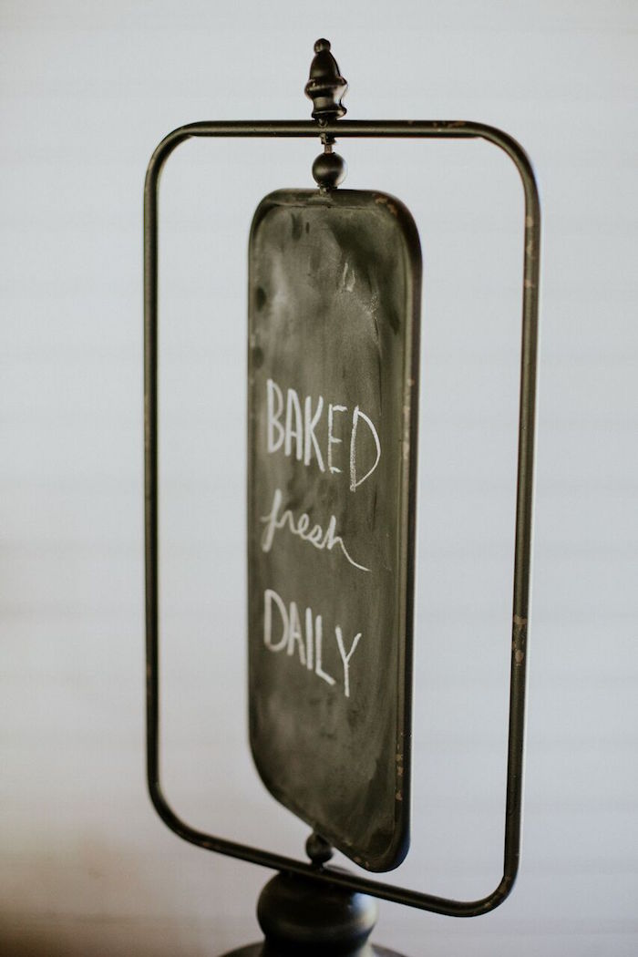 Chalkboard signage from a Modern Vintage Farm-to-Table Birthday Party on Kara's Party Ideas | KarasPartyIdeas.com (39)