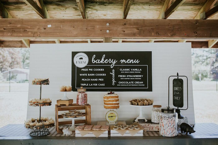 Modern Vintage Farm-to-Table Birthday Party on Kara's Party Ideas | KarasPartyIdeas.com (32)