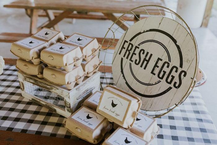 Fresh Eggs from a Modern Vintage Farm-to-Table Birthday Party on Kara's Party Ideas | KarasPartyIdeas.com (23)