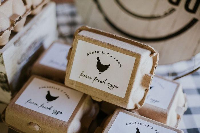 Egg carton from a Modern Vintage Farm-to-Table Birthday Party on Kara's Party Ideas | KarasPartyIdeas.com (21)