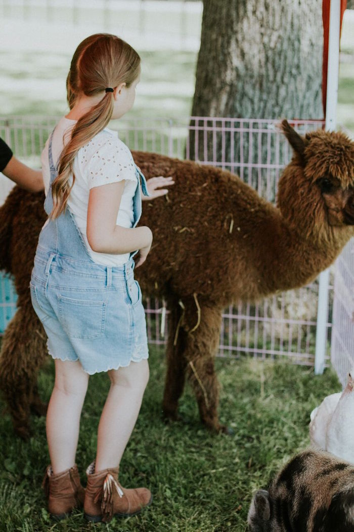 Petting zoo from a Modern Vintage Farm-to-Table Birthday Party on Kara's Party Ideas | KarasPartyIdeas.com (9)