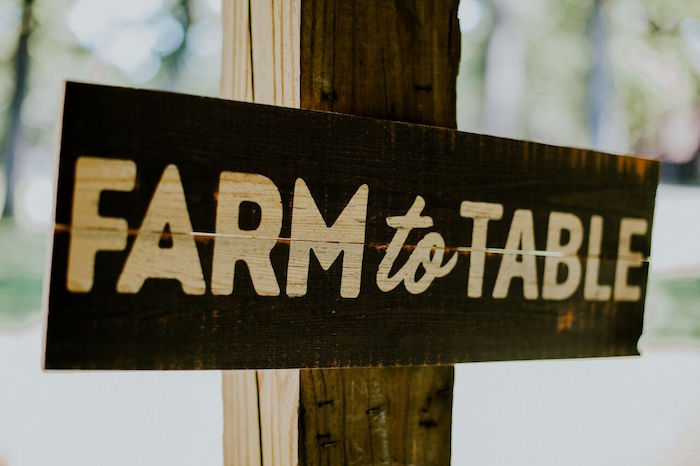 Farm to Table signage from a Modern Vintage Farm-to-Table Birthday Party on Kara's Party Ideas | KarasPartyIdeas.com (44)