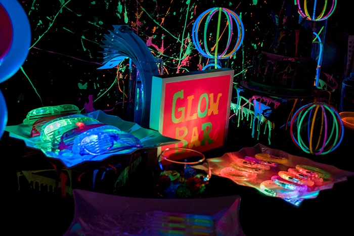 Kara S Party Ideas Neon Glow Birthday Party Kara S Party