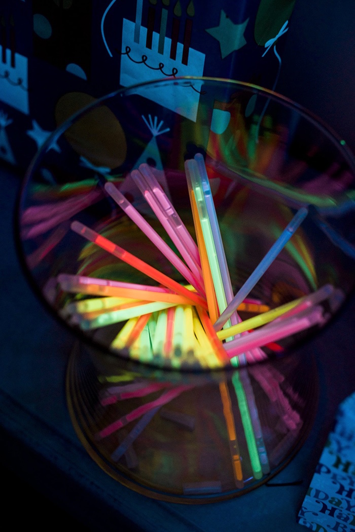 Glow stick favors from a Neon Glow Birthday Party on Kara's Party Ideas | KarasPartyIdeas.com (10)