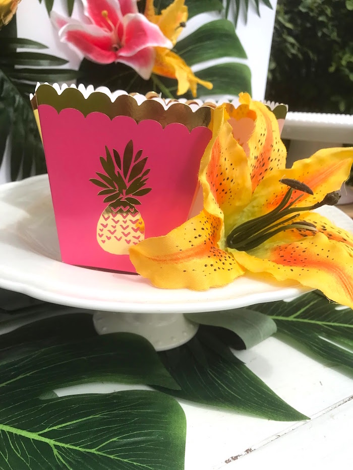 Pineapple box from a Party Like a Pineapple Birthday Party on Kara's Party Ideas | KarasPartyIdeas.com (12)