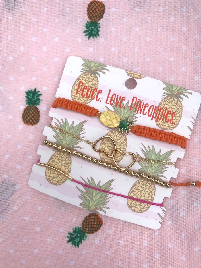 Pineapple jewelry favors from a Party Like a Pineapple Birthday Party on Kara's Party Ideas | KarasPartyIdeas.com (5)