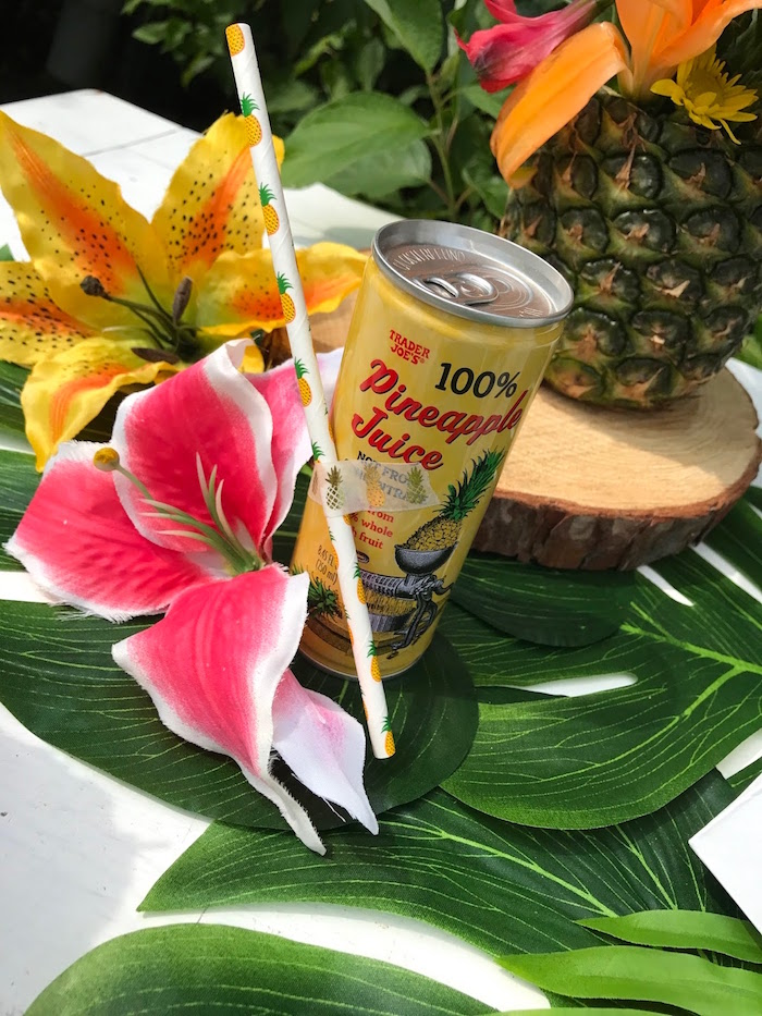 Pineapple drink from a Party Like a Pineapple Birthday Party on Kara's Party Ideas | KarasPartyIdeas.com (27)