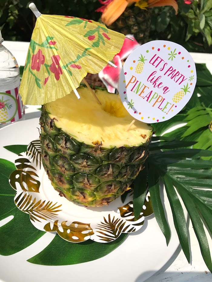 Kara S Party Ideas Party Like A Pineapple Birthday Party