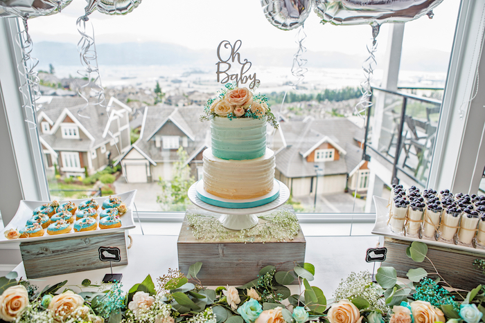 Cakescape from a Pastel Gender Neutral Baby Shower on Kara's Party Ideas | KarasPartyIdeas.com (11)