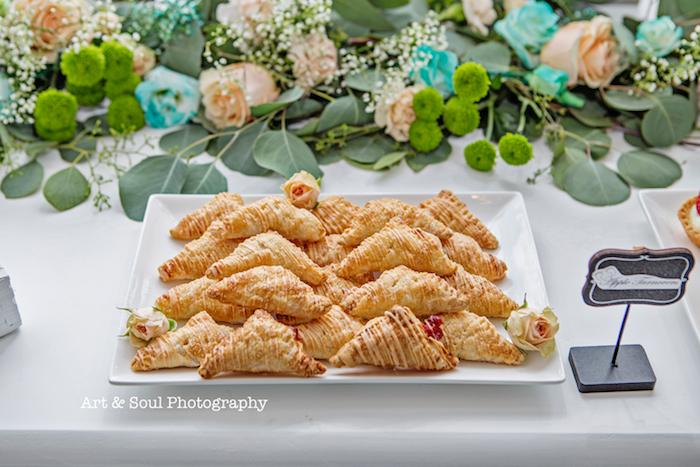 Dessert croissants from a Pastel Gender Neutral Baby Shower on Kara's Party Ideas | KarasPartyIdeas.com (17)