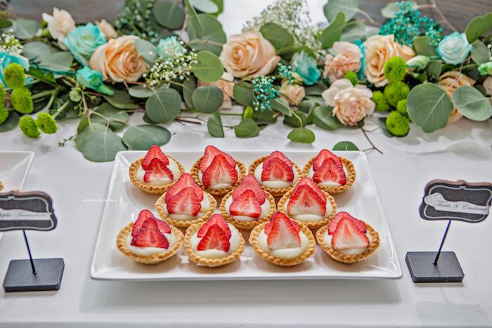 Dessert tarts from a Pastel Gender Neutral Baby Shower on Kara's Party Ideas | KarasPartyIdeas.com (16)