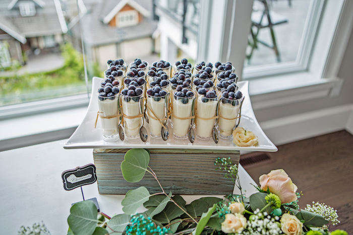 Dessert shooters from a Pastel Gender Neutral Baby Shower on Kara's Party Ideas | KarasPartyIdeas.com (14)