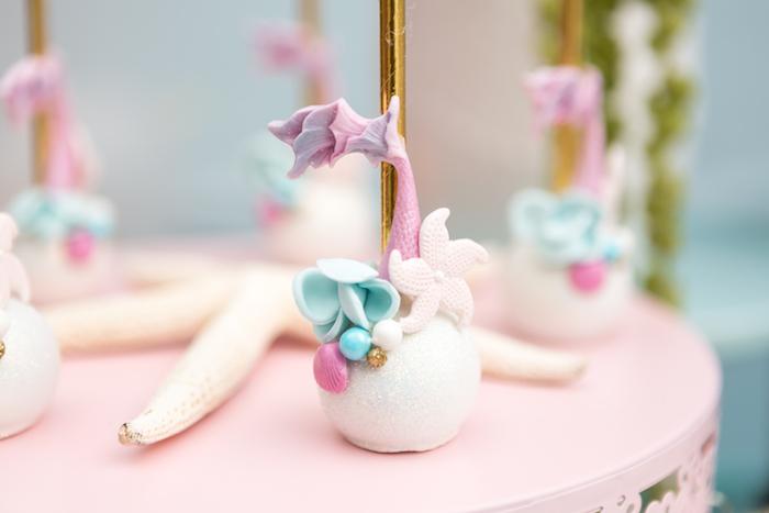 Mermaid cake pop from a Pastel Mermaid Birthday Party on Kara's Party Ideas | KarasPartyIdeas.com (21)