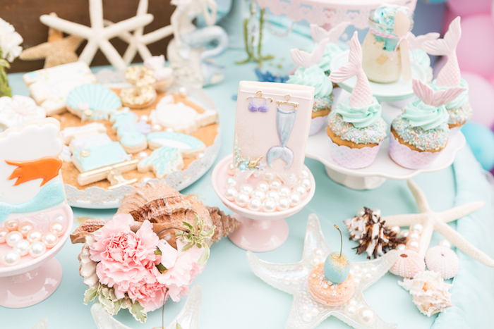 Sweets from a Pastel Mermaid Birthday Party on Kara's Party Ideas | KarasPartyIdeas.com (10)