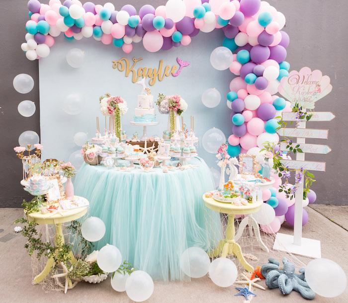 Kara's Party Ideas Pastel Mermaid Birthday Party