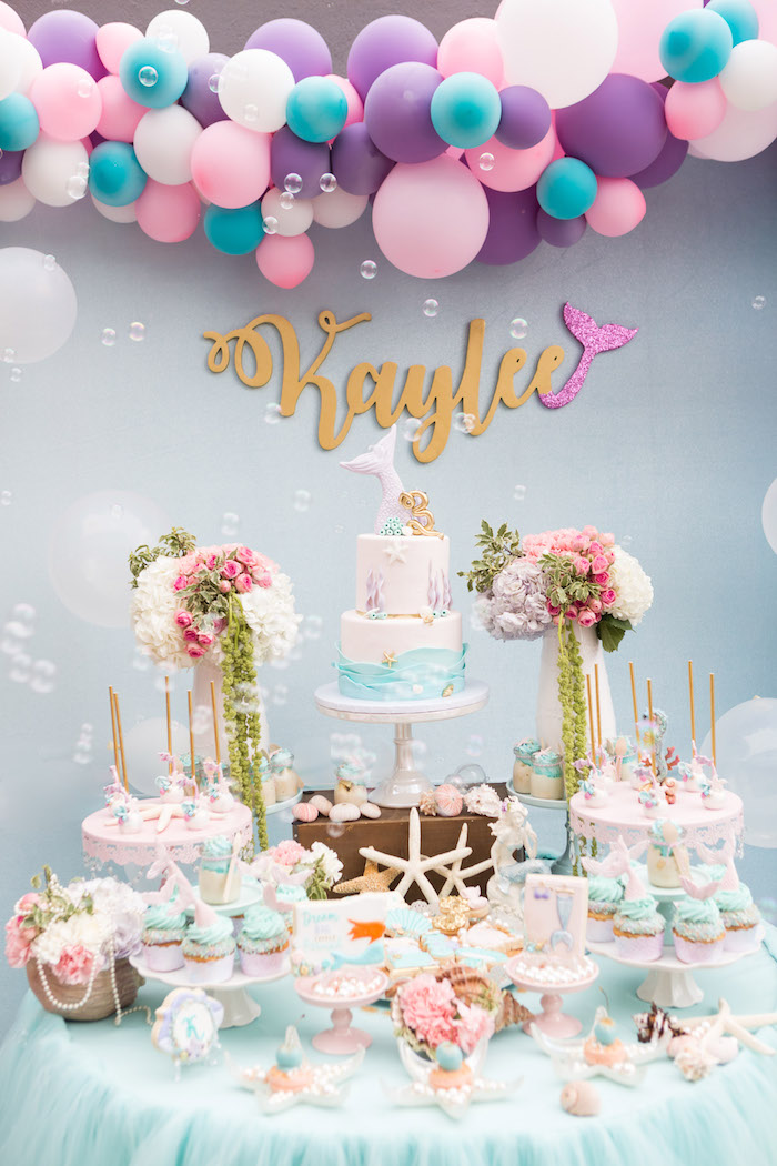 Kara S Party Ideas Pastel Mermaid Birthday Party Kara S