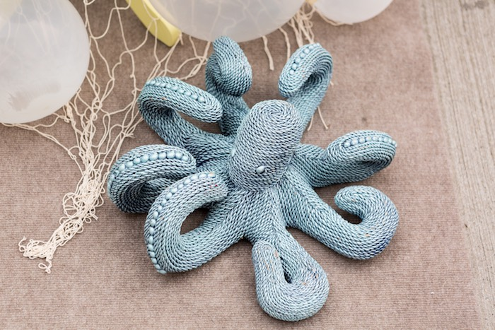 Knitted octopus from a Octopus from a Pastel Mermaid Birthday Party on Kara's Party Ideas | KarasPartyIdeas.com (23)