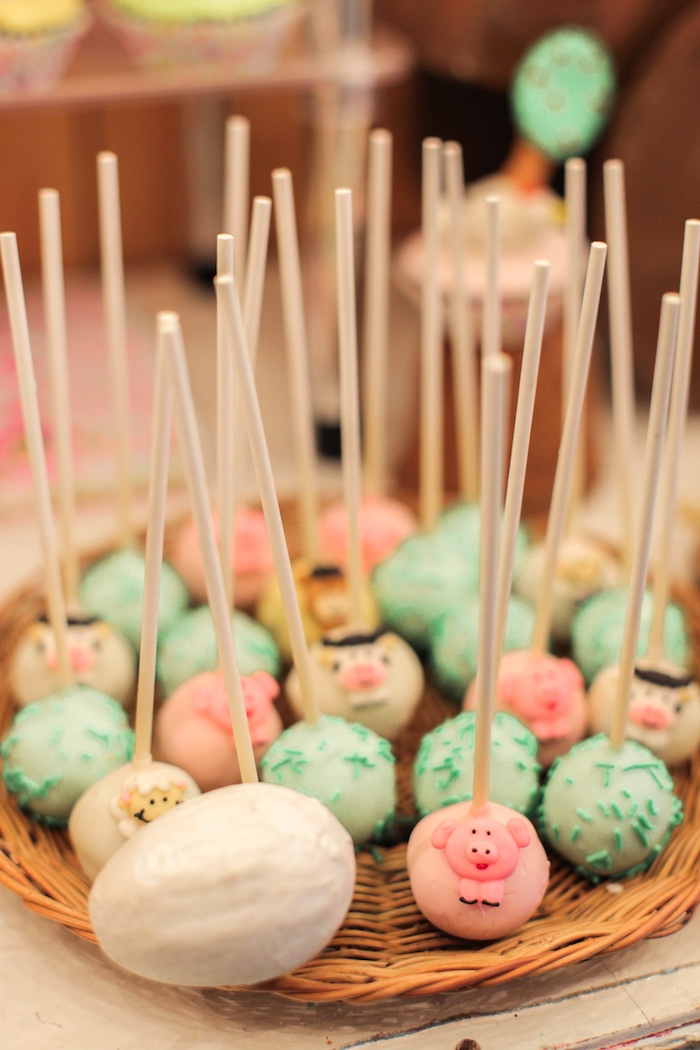 Cake pops from a Pink Barnyard Birthday Party on Kara's Party Ideas | KarasPartyIdeas.com (19)