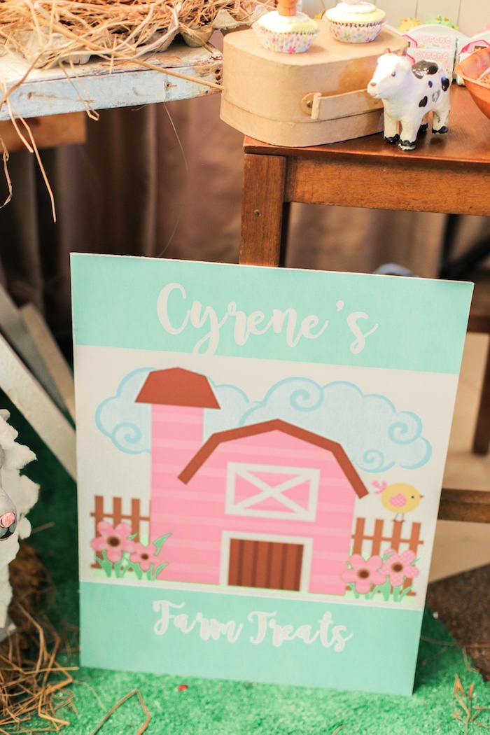 Barnyard signage from a Pink Barnyard Birthday Party on Kara's Party Ideas | KarasPartyIdeas.com (16)