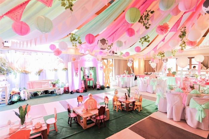 Pink Barnyard Birthday Party on Kara's Party Ideas   KarasPartyIdeas.com (8)