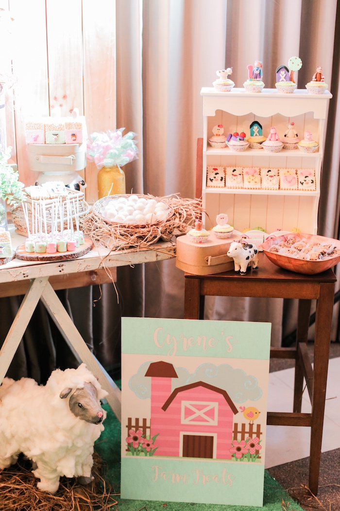 Pink Barnyard Birthday Party on Kara's Party Ideas | KarasPartyIdeas.com (4)