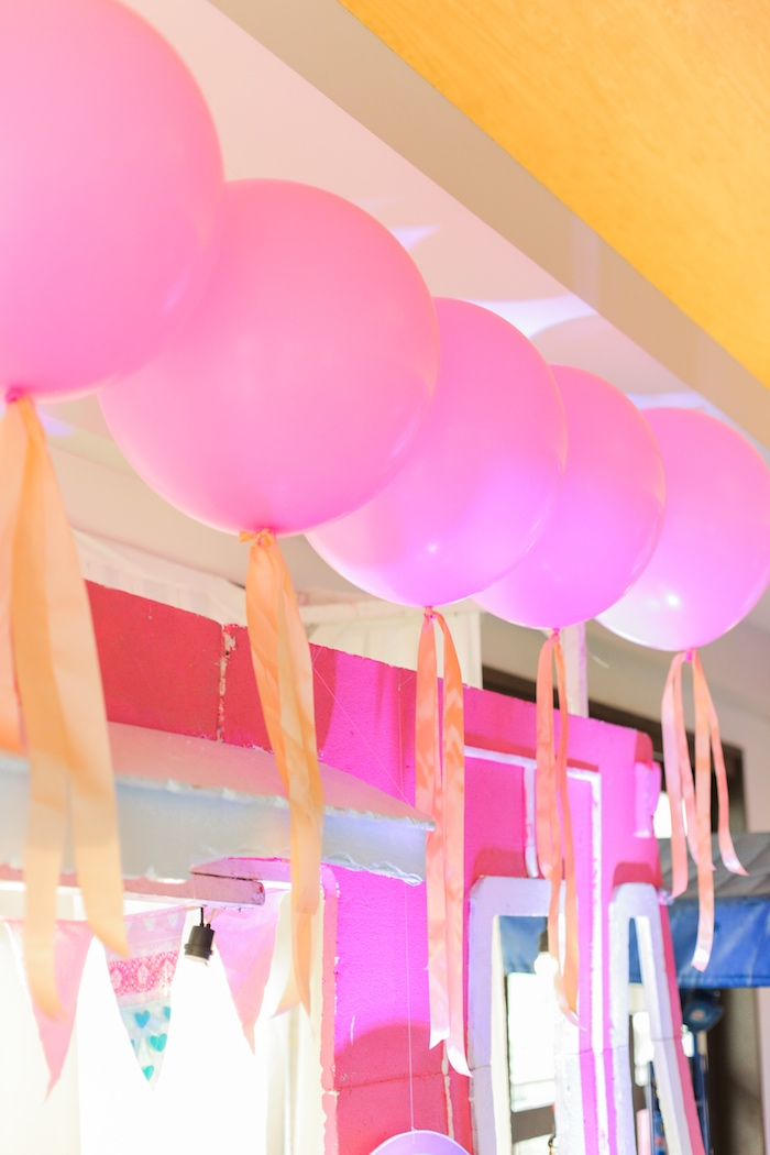 Pink jumbo balloons from a Pink Barnyard Birthday Party on Kara's Party Ideas | KarasPartyIdeas.com (30)