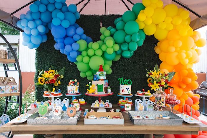 Karas Party Ideas Rustic Sesame Street Birthday Party Karas