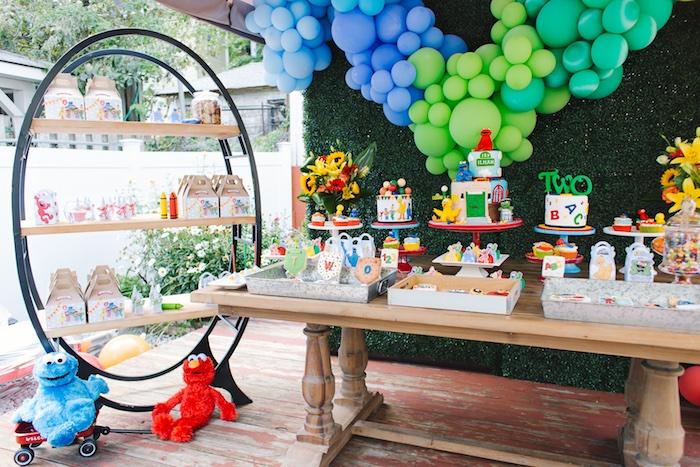Rustic Sesame Street Birthday Party on Kara's Party Ideas   KarasPartyIdeas.com (23)