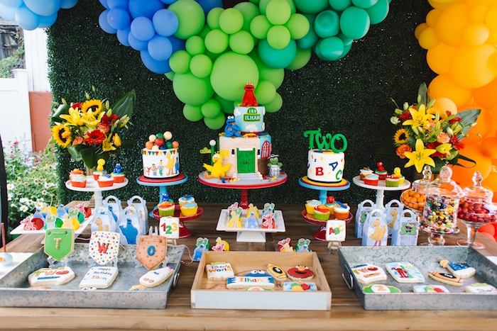 Rustic Sesame Street Birthday Party on Kara's Party Ideas   KarasPartyIdeas.com (22)