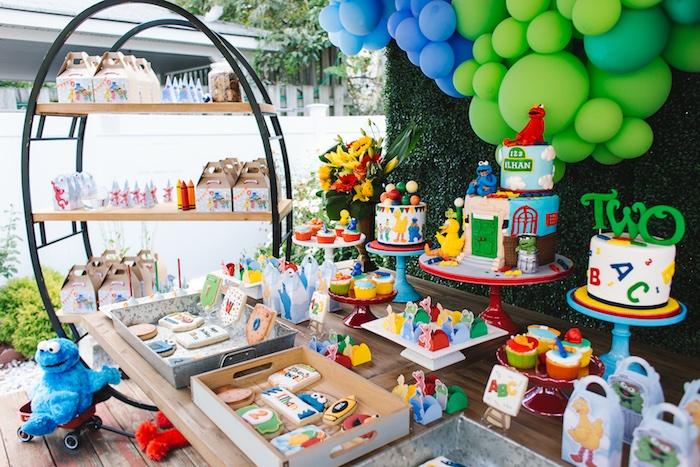 Rustic Sesame Street Birthday Party on Kara's Party Ideas   KarasPartyIdeas.com (21)