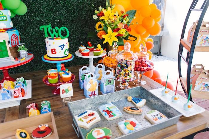 Rustic Sesame Street Birthday Party on Kara's Party Ideas   KarasPartyIdeas.com (9)