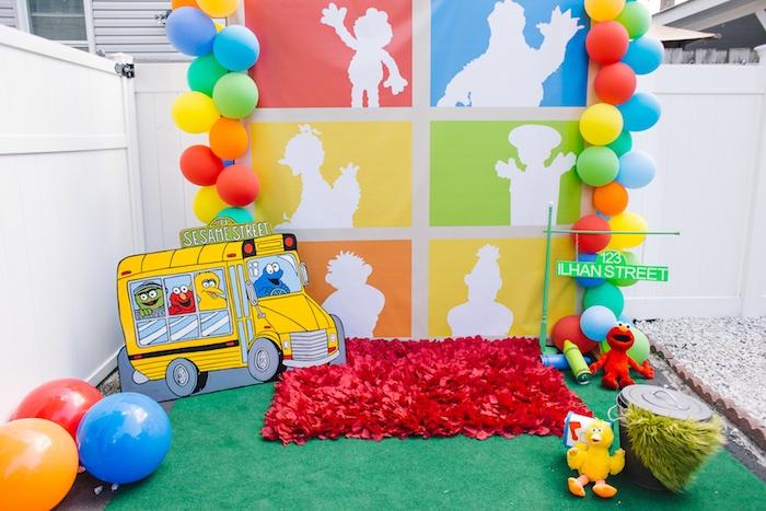 Rustic Sesame Street Birthday Party on Kara's Party Ideas   KarasPartyIdeas.com (5)