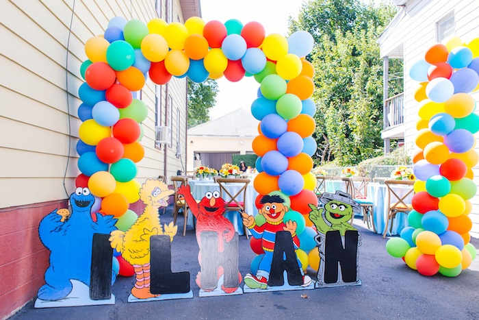 Rustic Sesame Street Birthday Party