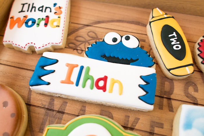 Rustic Sesame Street Birthday Party on Kara's Party Ideas   KarasPartyIdeas.com (31)