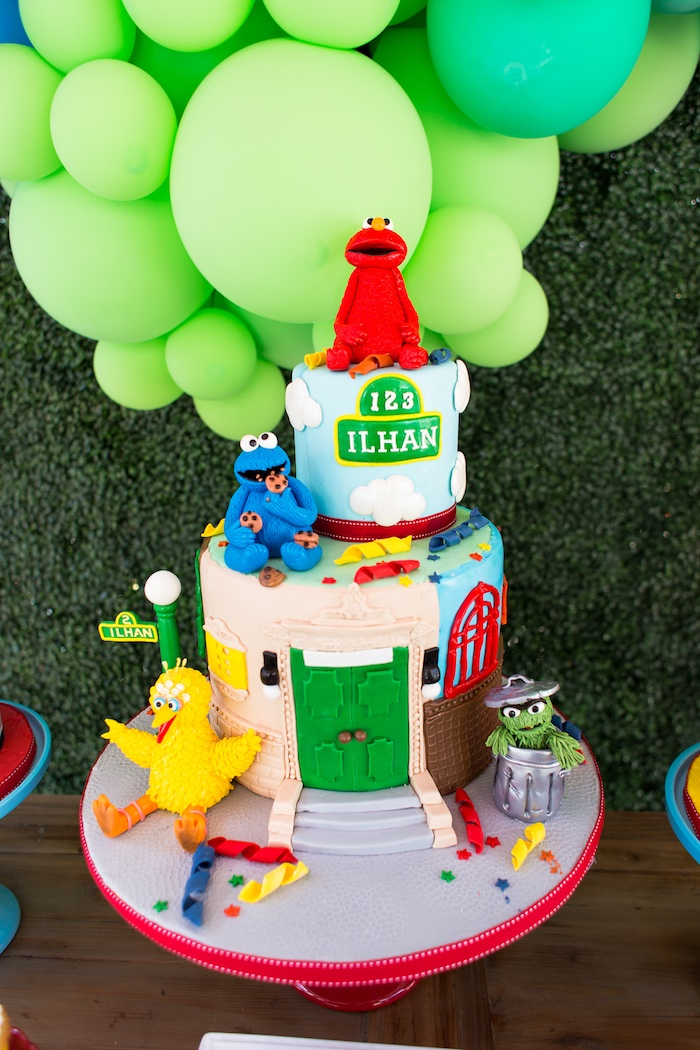 Karas Party Ideas Rustic Sesame Street Birthday Party