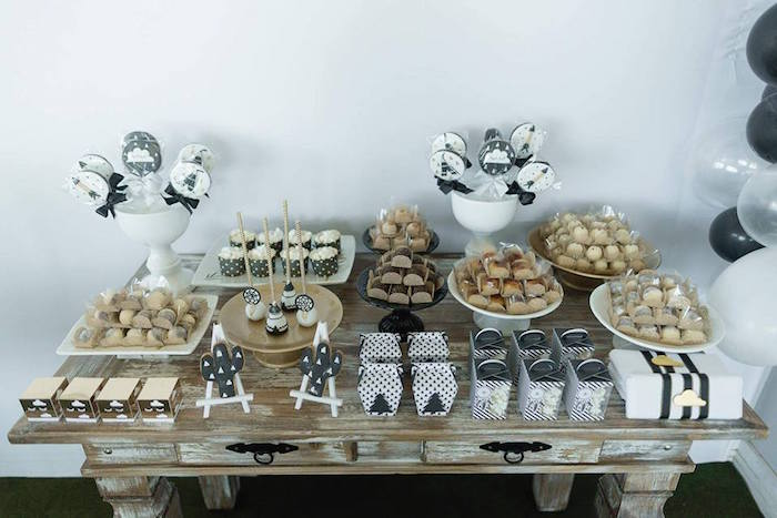 Sweet table from a Rustic Wild One Birthday Party on Kara's Party Ideas | KarasPartyIdeas.com (17)