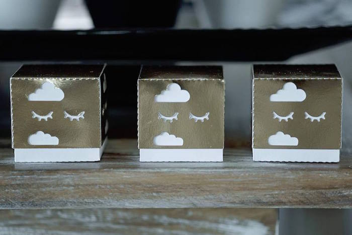 Cloud favor boxes from a Rustic Wild One Birthday Party on Kara's Party Ideas | KarasPartyIdeas.com (16)