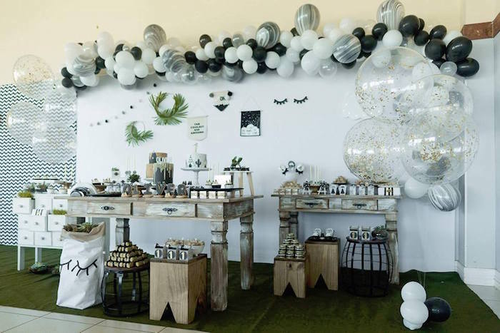 Dessert tables from a Rustic Wild One Birthday Party on Kara's Party Ideas | KarasPartyIdeas.com (13)
