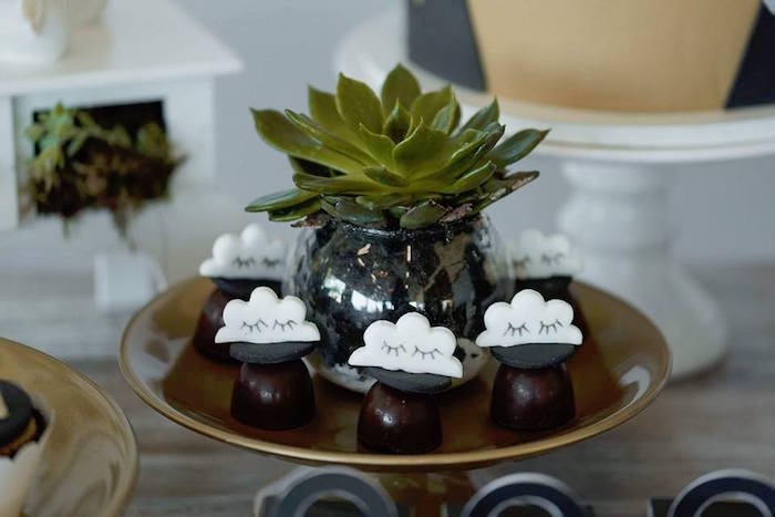 Eyelash cloud truffles from a Rustic Wild One Birthday Party on Kara's Party Ideas | KarasPartyIdeas.com (9)