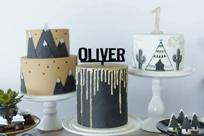 Cakes from a Rustic Wild One Birthday Party on Kara's Party Ideas | KarasPartyIdeas.com (21)