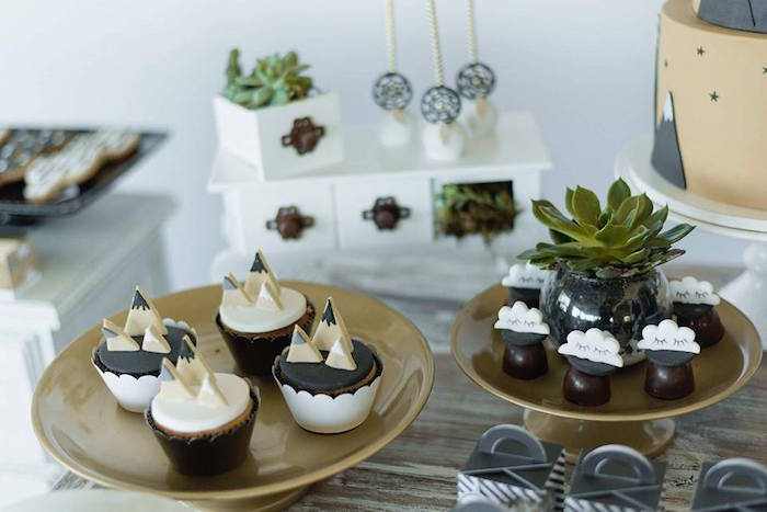 Cupcakes and truffles from a Rustic Wild One Birthday Party on Kara's Party Ideas | KarasPartyIdeas.com (20)