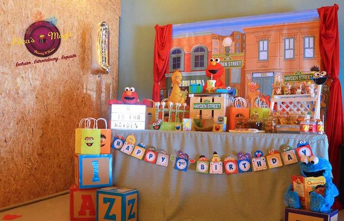 Sesame Street dessert table from a Sesame Street Birthday Party on Kara's Party Ideas | KarasPartyIdeas.com (8)