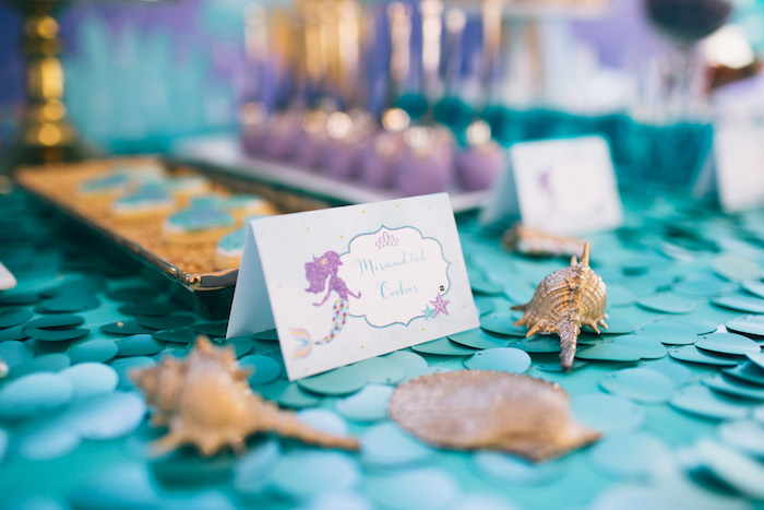 Mermaid sweet label from a Shimmering Mermaid Birthday Party on Kara's Party Ideas | KarasPartyIdeas.com (5)