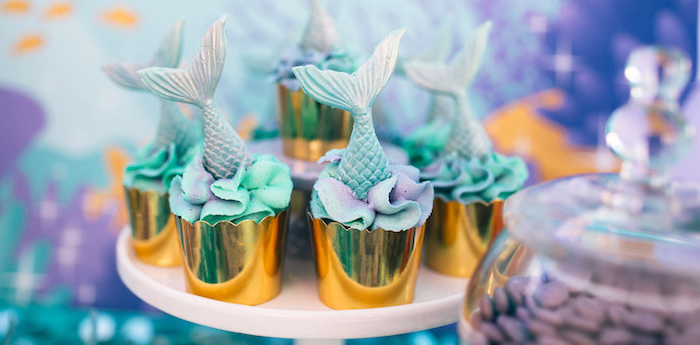 Shimmering Mermaid Birthday Party on Kara's Party Ideas | KarasPartyIdeas.com (1)