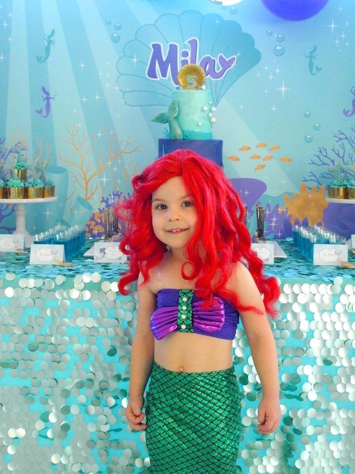 Shimmering Mermaid Birthday Party on Kara's Party Ideas   KarasPartyIdeas.com (18)