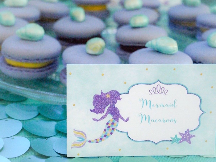 Mermaid sweet label from a Shimmering Mermaid Birthday Party on Kara's Party Ideas | KarasPartyIdeas.com (17)