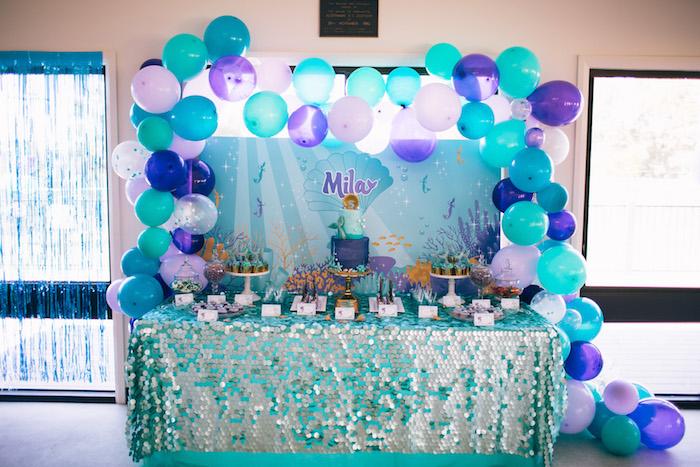 Shimmering Mermaid Birthday Party on Kara's Party Ideas | KarasPartyIdeas.com (11)
