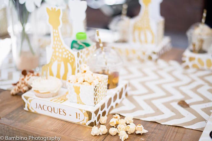 Giraffe snack box from a Sophie the Giraffe 1st Birthday Party on Kara's Party Ideas | KarasPartyIdeas.com (11)